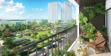 can goc 2 phong ngu eco green saigon